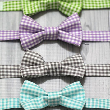 Gingham Bow tie, Babies Boys, Toddlers. Great for Easter, Church Photo Shoots and more.