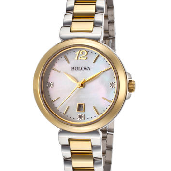 Bulova Women's Two-Tone Polished Watch, 30mm - Silver