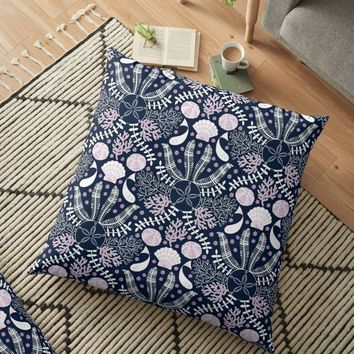 'Bouquet of the Sea' Floor Pillow by miavaldez