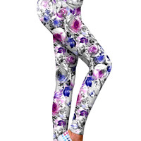 Floral Touch Lucy Printed Performance Leggings - Women