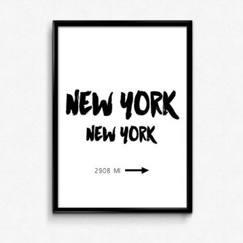 New York city print,best words,typography art print,black and white,gift for him,fashion art NYC art,prada marfa,sign gossip girl,instant