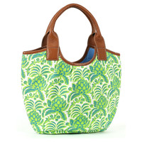 Pineapple Bucket Tote, Green/Blue, Totes