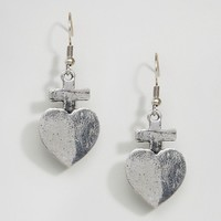 Reclaimed Vintage Heart Earrings at asos.com