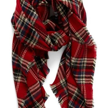 Shiraleah 'Anya' Plaid Oversize Oblong Scarf | Nordstrom