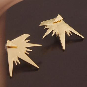 ES121 Steampunk Stud Earrings for Women Triangle Geometric Fashion Jewelry Brincos boucle d'oreille pendientes mujer