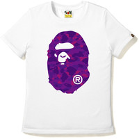COLOR CAMO BIG APE HEAD TEE /AP