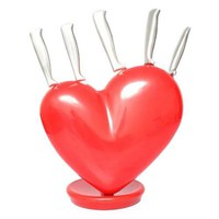 Heart Shape Kitchen Knife Rack