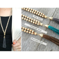 Woodbead Tassle Necklace | Accessories | Fall 816