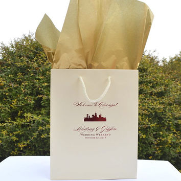 50 Personalized Wedding Welcome Gift Bags