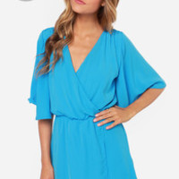 LULUS Exclusive The Way You Move Blue Dress