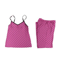 Jenni by Jennifer Moore Womens Knit Polka Dots Pajama Set