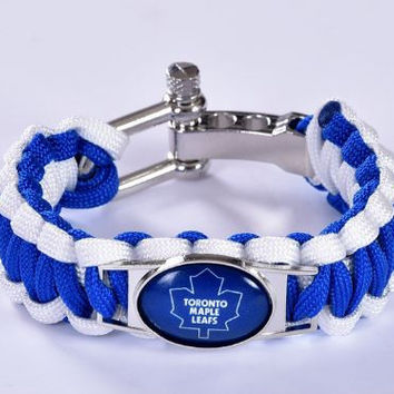 NHL - Toronto Maple Leafs Custom Paracord Bracelet