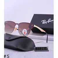 RayBan 2018 new men and women aviator sunglasses color film polarized sunglasses #5