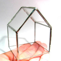 Glass House - Tiny House - Terrarium - House Terrarium - Jewelry Storage
