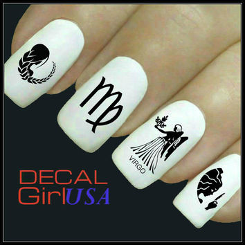 Virgo Nail Art Decals 32 Virgo Zodiac Nail Decals