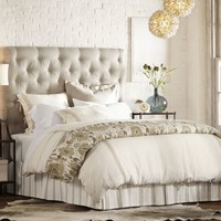 Lorraine Tufted Upholstered Tall Bed & Headboard