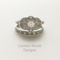 Antique Sapphire Engagement Ring by Carolyn Nicole Designs