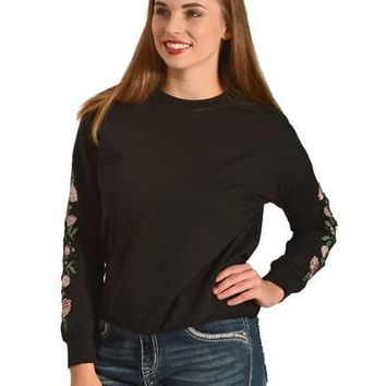 Derek Heart Women's Emmy's Embroidered Pullover