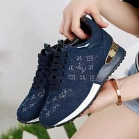 Louis Vuitton LV Women Fashion Running Sneakers Sport Shoes