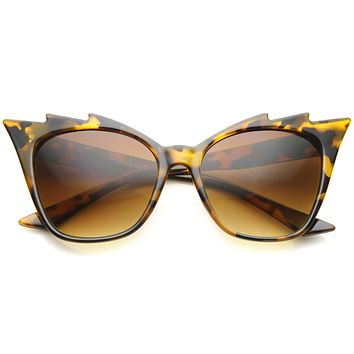 Women's Trendy Jagged Edge Brow Cat Eye Sunglasses A160