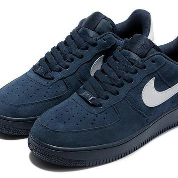 PEAPON Nike Air Force 1 Blue White For Women Men Running Sport Casual Shoes Sneakers
