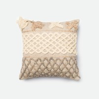 Loloi Beige / Brown Decorative Throw Pillow (P0233)