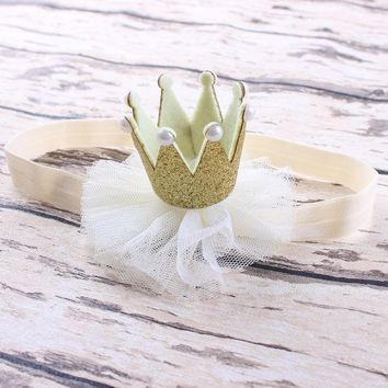 1PC Princess Queen Rhinestone Tiara Crown Headwear Hair Braider Band Styling Accessories for Baby Kids Girl Toddler Infant