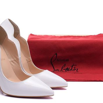 Christian Louboutin CL Fashion Trending Leather Women High Heels Shoes Women