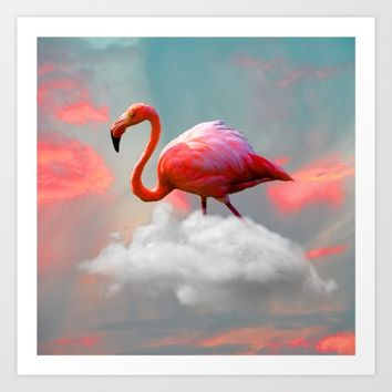My Home up to the Clouds Art Print by Azima