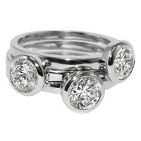 Treasured Trove - FINAL SALE Set of Three Silver CZ Stackable Rings