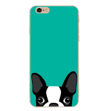 Mint Green Dog Case Cover for iPhone 6 6s Plus iPhone 7 7plus + Gift Box-461