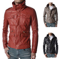 Vintage Classic Men Leather Jacket