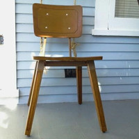 Vintage, Kids Chair, Childrens Chair, Metal, Wood, Mid Sized, School, Desk, Chair, Mid Century, RhymeswithDaughter