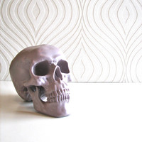 Skull Head in purple gray: Mr. Smiley