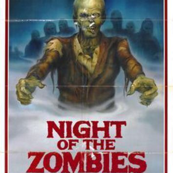 Night Of The Zombies Movie poster Metal Sign Wall Art 8in x 12in