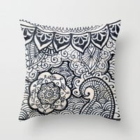 Four sides of a box (iv) Throw Pillow by Condor