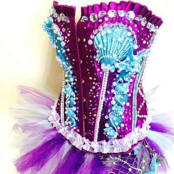 Light blue little mermaid edc costume / tomorrowworld / edm festival