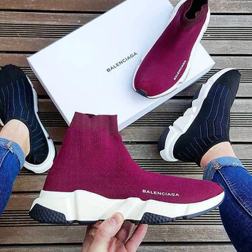 Balenciaga Woman Men Fashion Breathable Sneakers Running Shoes 5 (color)-1