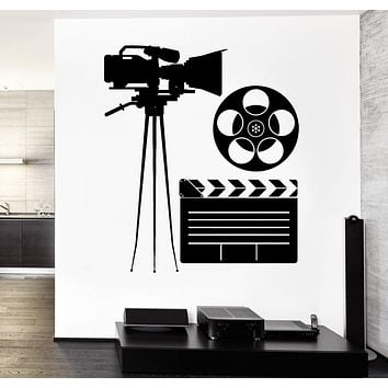 Wall Vinyl Decal Camera Movie Star Hollywood Decor Unique Gift z3762