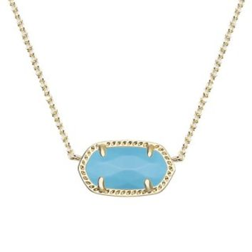 Elisa Gold Pendant Necklace in Turquoise - Kendra Scott Jewelry