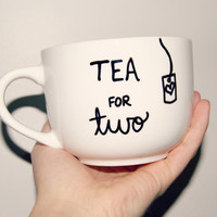 Tea for Two Mug/Fully Customizable/Pregnancy Announcement/New Mom