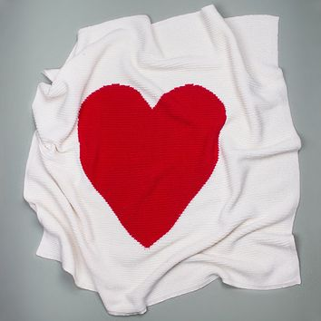 "Estella Cotton Baby Blankets - Heart 30"" x 30"""