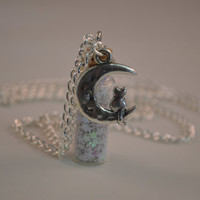 Stardust and Moon Combination Bottle Necklace