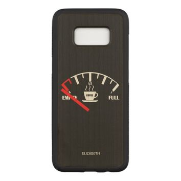 Funny Fuel Gauge Coffee Mug Time To Get Coffee Carved Samsung Galaxy S8 Case