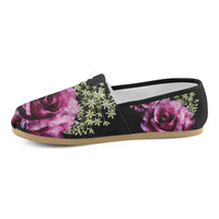 floral heart Women's Casual Shoes (Model 004) | ID: D741412