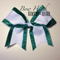 White and Green Cheerbow