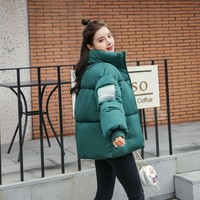 Abrigos Mujer Invierno 2019 Short Winter Jacket Women Cotton Padded Jacket Female  Parka Coat Womens puffer jacket big size