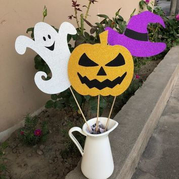 Halloween decoration Ghost Witch Pumpkin centerpiece Bar Fall Halloween table top Home Decor