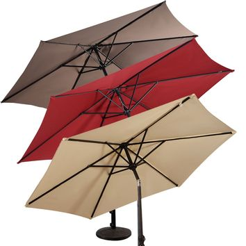 GOPLUS 9FT Patio Umbrella Patio Market Steel Tilt W/ Crank Outdoor Yard Garden