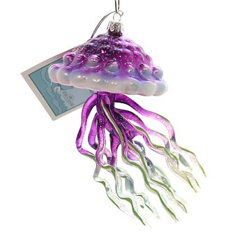 Noble Gems JELLYFISH Glass Under The Sea Ocean Nb1295 Purple